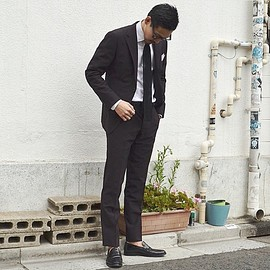UNITED ARROWS - Seersucker Brown Suit
