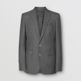 BURBERRY - English Fit Metal Button Wool Tailored Jacket