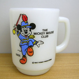 Fire King - disney Mickey Mouse Club mug cup
