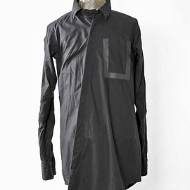SIVA - SHT-CLT / TAPED SEAMS POCKET TWISTED SHIRTS