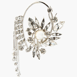 GIVENCHY - Crystal & Mother-Of-Pearl Ear Cuff