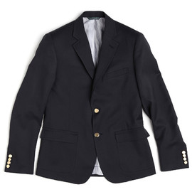 band of outsiders - 2 button schoolboy jacket navy