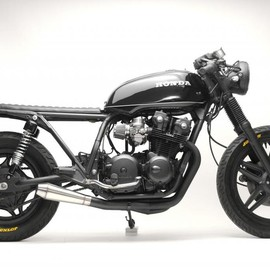 Steel Bent Customs - Black   Honda CB750  1981