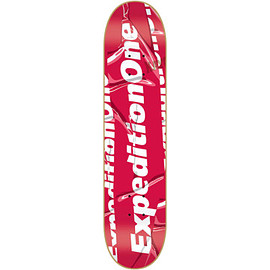 Expedition One Skateboards - Logo Type SK8 Deck 8.25 Red