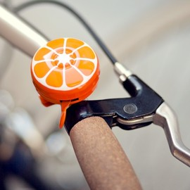 Poketo - Hand-painted bike bells - orange