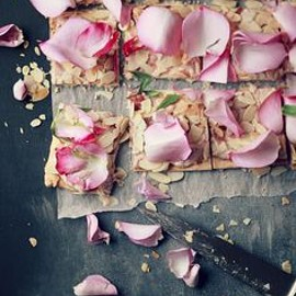 almond and rose petal