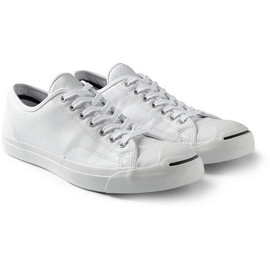 CONVERSE - Converse Jack Purcell Textured-Leather Sneakers