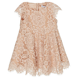 DOLCE&GABBANA - FW2015 Children's Pale Pink Short Sleeve Lace Dress With Satin Bloomers