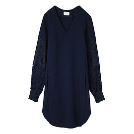 mame - Embroidery & Lace Sweat One-Piece
