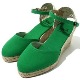 green label relaxing - green canvas sandal