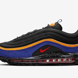 NIKE - Air Max 97 - Black/Dark Violet/Orange/University Red?