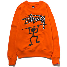 STUSSY - Native Tongues Warrior Crew Sweat