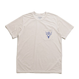 South2 West8 - Round Pocket Tee-Circle Horn-Grey