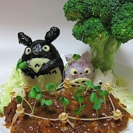 Totoro Hashed rice, studio ghibli food