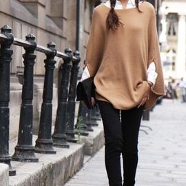 leather bow-tie sweater