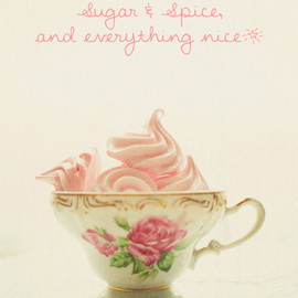 Luulla - Sugar & Spice - Pink Meringue I - Nursery Decor - Fine Art Photography 8x10""