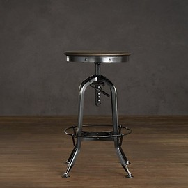 Vintage Toledo Barstool Distressed Black