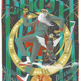 Rich Kelly - A poster from Phish's New Year's Eve run at Madison Square Garden in New York City.