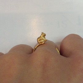 rutile - tiny cat ring (j gold)