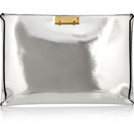 Marni - Mirrored-leather clutch