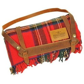 PENDLETON - PENDLETON  Carry Along Motor Robes W/Leather Carrier  Royal Stewart ZC333-50701