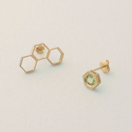 tortue - honeycomb earrings