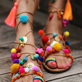 """unknown - Tie up gladiator sandals """"Penny Lane''"""