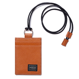 "HEAD PORTER - ""BAILIO"" PASS CASE CAMEL"