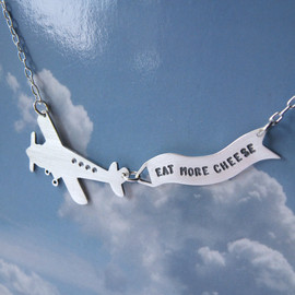 melaniefavreau - Message in the Sky silver airplane with banner