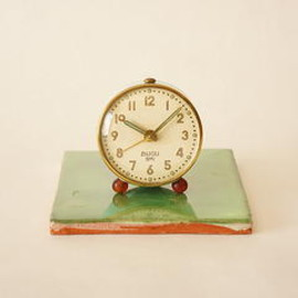 smi bijou - smi bijou/small alarm clock/pale blue/france 1920s/working