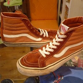 "vans - 「<used>80's vans HI TOP orangebrown""made in USA"" size:US7/h(25.5cm) 12800yen」完売"