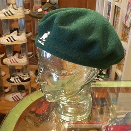 "Kangol - 「<used>80-90's Kangol BELLET green""made in ENGLAND"" 3800yen」完売"