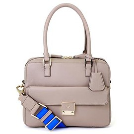 ANYA HINDMARCH - Small Carker - Light Grey / Electric Blue
