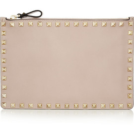 VALENTINO - The Rockstud medium leather pouch