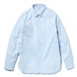 HEAD PORTER PLUS - OXFORD SHIRT BLUE