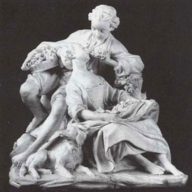 "Madame Pompadour - ""The grape eaters"" a Sèvres porcelain"