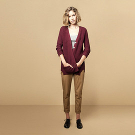 Pull and Bear - PEARL STITCH CARDIGAN (MAROON)