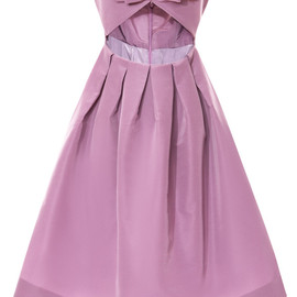 KATIE ERMILIO - Cinched Bow Bodice Party Dress