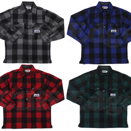 A BATHING APE - ABATHINGAPE(エイプ)FLANNELMOUNTAIN長袖シャツ【新品】230-000543-065[1860-131-054]-【smtb-TD】【yokohama】