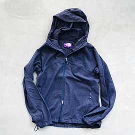 """THE NORTH FACE PURPLE LABEL - Linen Polyester Swallowtail Hoodie"""""""