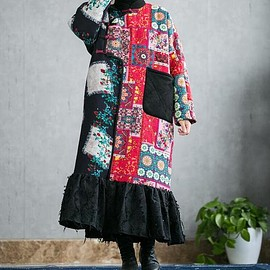 robe for Women - Women large size Dresses, Loose Fitting coat dress