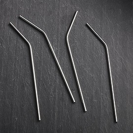 Crate and Barrel - Stainless Steel Straws - S4SHS16