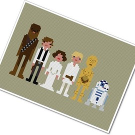 weelittlestitches - Pixel People - STAR WARS - A New Hope - PDF Cross-stitch Pattern