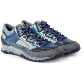 Lanvin - LanvinLeather and Mesh Sneakers