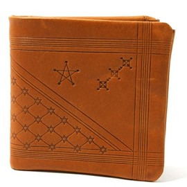 "COSMIC WONDER - VEGETABLE TANNED LEATHER BIFOLD WALLET -""Astral Plains"" VERSION"