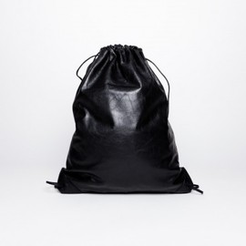 ALEXANDER WANG - Wallie Gym Sack Waxy Paper Leather Black