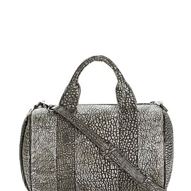Alexander Wang - Black And White Rocco In Pebbled Black/White Tip With Black Nickel
