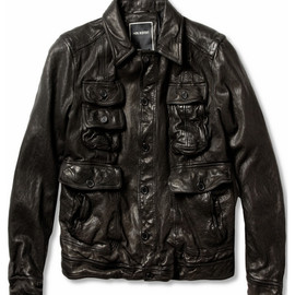 Neil Barrett Padded Textured-Leather Jacket