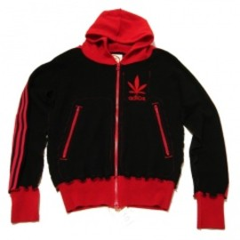 A LOVE MOVEMENT - ALM (Men's)zip up/red×black(3本ライン)LOVE & PEACE