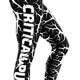 critical pump - Cracked Black Leggings